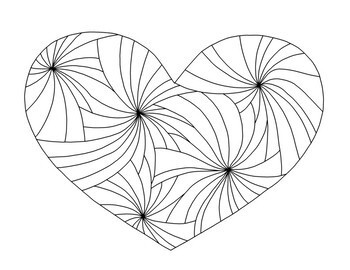 Valentine's Day Printable Coloring Pages PDF Banner, Set of Four