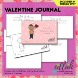Valentine's Day Printable Journal - Full Color and Black &