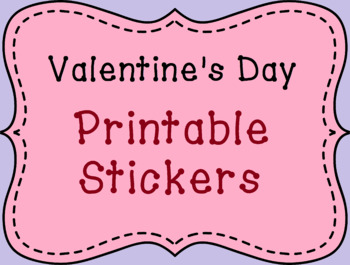photograph relating to Printable Stickers Labels called Valentines Working day Printable Label Stickers