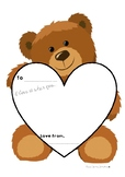 Valentines Day Printable Teddy