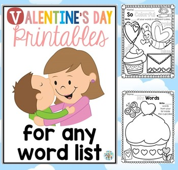 Valentine's Day Printables for any Word List