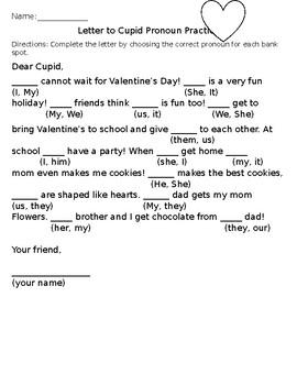 Valentines Day Pronoun Practice