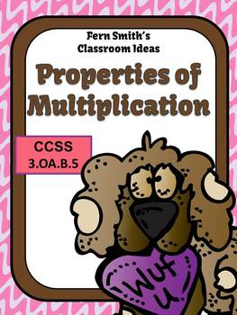 St Valentine's Day Properties of Multiplication Centers Anchor Charts Task Cards
