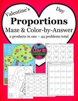 Valentine's Day Math Proportions Valentine's Day Activity Bundle