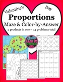 Valentine's Day Math Proportions Valentine's Day Activity Bundle