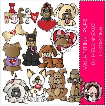 Valentine's Day Pups by Melonheadz