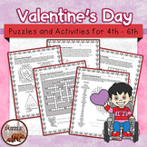 Valentine's Day Puzzle Pack - 15 Pages of Puzzles for Uppe