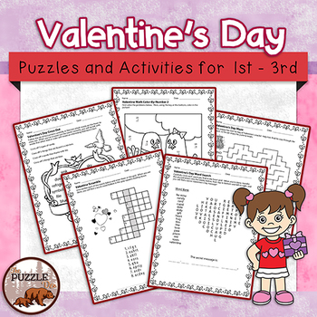 Valentine's Day Puzzle Pack - 15 Pages of Puzzles for Lowe