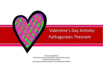 Valentine's Day Pythagorean Theorem Practice