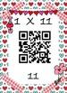 Valentine's Day QR Math Multiplication Facts