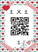 Valentine's Day QR Math Multiplication Facts 1x1