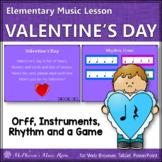 Valentine's Day Music: Valentine's Day Orff, Rhythm & Instruments (Quarter/Rest)