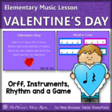 Valentine's Day Music: Valentine's Day Orff, Rhythm & Instruments (Quarter/Rest)