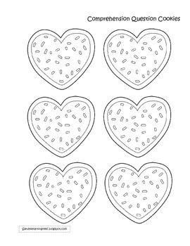 Valentine's Day Question Cookies Reading Comprehension Craftivity!
