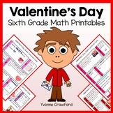 Valentine's Day No Prep Common Core Math (6th grade)
