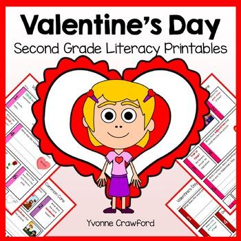 Valentine's Day No Prep Common Core Literacy (2nd grade)