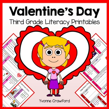 Valentine's Day No Prep Common Core Literacy (3rd grade)