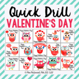 Quick Drill for Valentine's Day {for speech therapy or any
