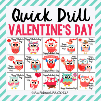 Valentine's Day Quick Drill {for articulation or fluency t