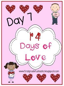 Valentine's Day Raising Self Esteem Activity:  Day 7 of 14