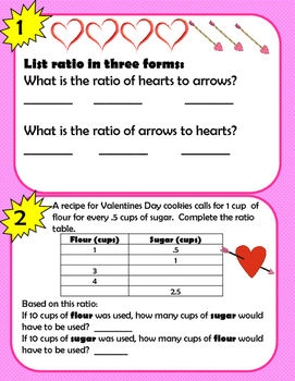 Valentines Day Ratio Task Cards