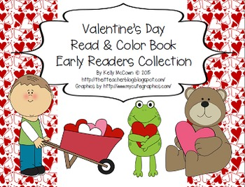 Valentine's Day Sight Words Game + Read & Color Book