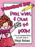 Valentine's Day Read, Write, and Count the Room {Literacy/Math Center} {CCSS}