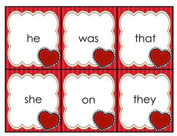 {Valentine's Day} Read/Write the Room Sight Word Literacy Center