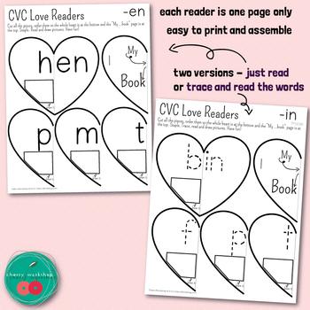 Valentines CVC Words