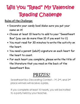 Valentines Day- Reading Challenge