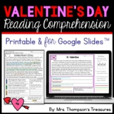 Valentines Day Reading Comprehension