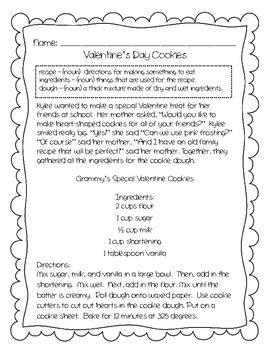 Valentine's Day Reading Comprehension Stories and More