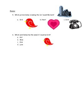 Valentine's Day Reading Comprehension Story