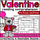 Valentines Day Reading Comprehension for Kindergarten