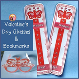 Valentines Day Glasses and Bookmarks