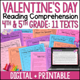 Valentine's Day Reading Comprehension Passages and Activities {Just Print}