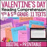 Valentine's Day Reading Comprehension - Digital Valentine's Day Activities
