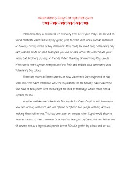 Valentine's Day Reading Unit