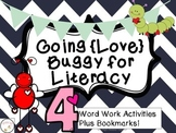 Valentine's Day Reading {Word Work, Writing, and Bookmarks}