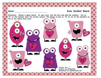 Valentine's Day Reading and Math Activities 4 Pack
