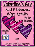 Valentine's Day Real and Nonsense Word Activity