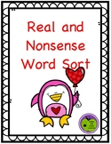 Valentines Day Real vs. Nonsense Word Sort