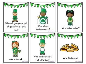 St. Patrick's Day Receptive Language