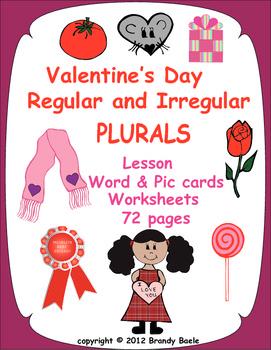 Valentine's Day Regular & Irregular Plurals