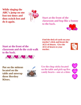 Valentine's Day Relay Race Game