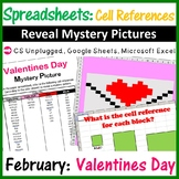 Valentines Day Reveal Mystery Pictures - Spreadsheets Cell References