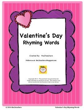 Rhyming Words - Valentine's Day Theme