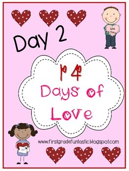 Valentine's Day Rhyming Words Activity:  Day 2 of 14 Days of Love
