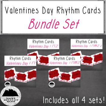 Valentines Day Rhythm Cards Bundle Set