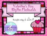 Valentines' Day Rhythm Flashcards: Ta, TiTi, Rest